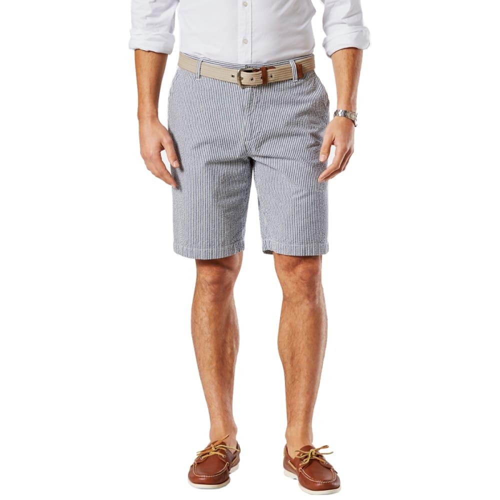 DOCKERS Men's Ventura Seersucker Shorts - NOON BLUE