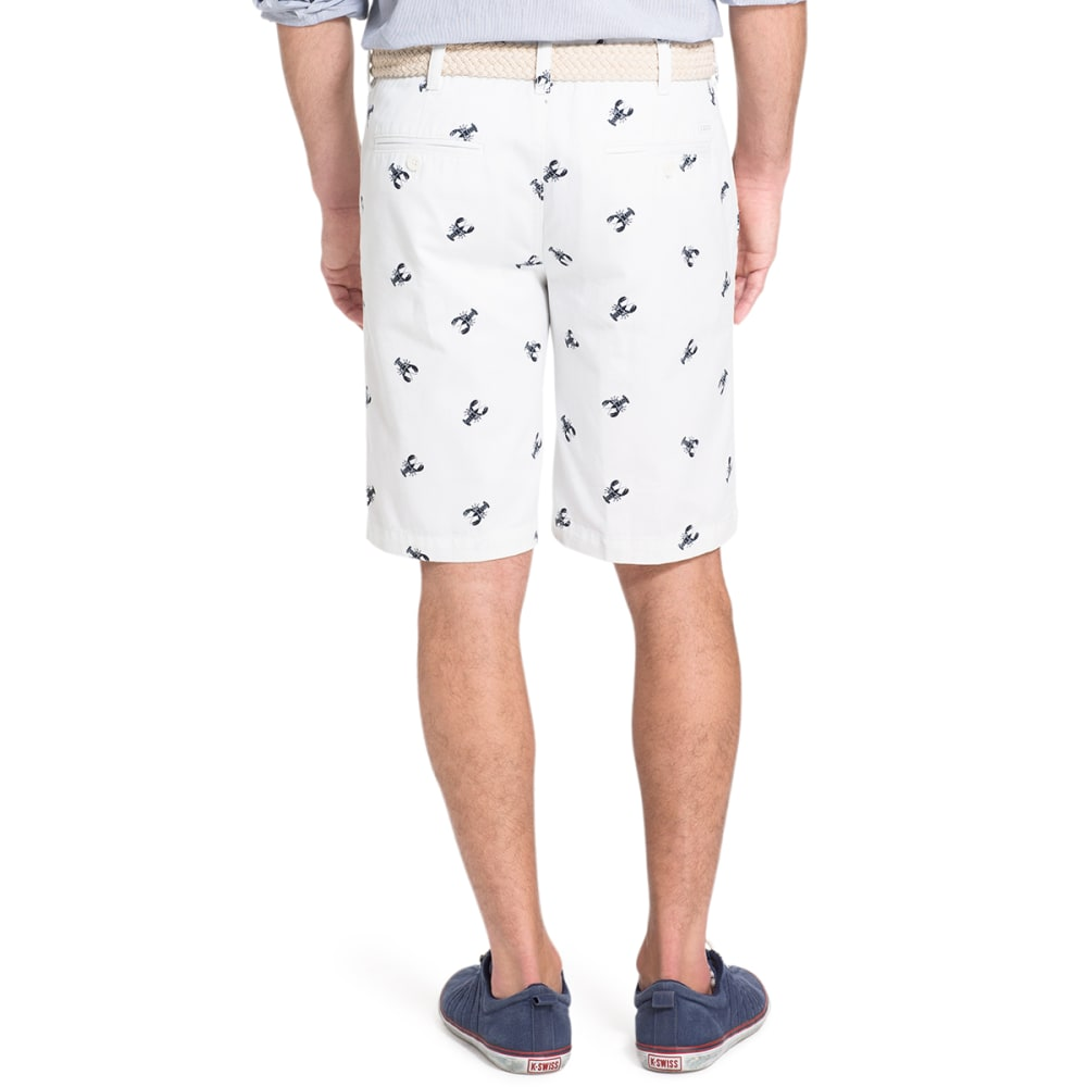IZOD Men's Lobster Printed Twill Shorts - 116-WHITE
