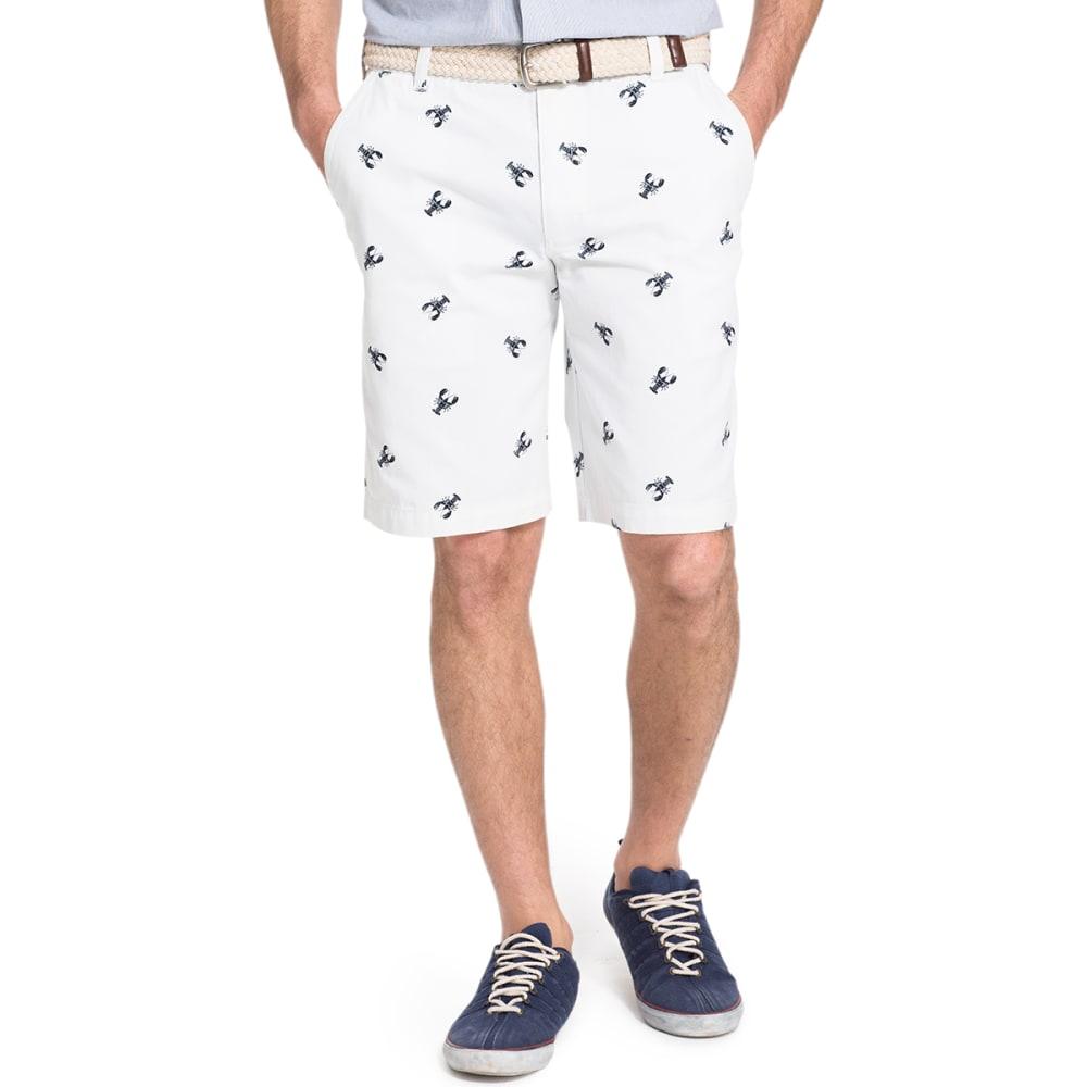 IZOD Men's Lobster Printed Twill Shorts - 116-WHITE