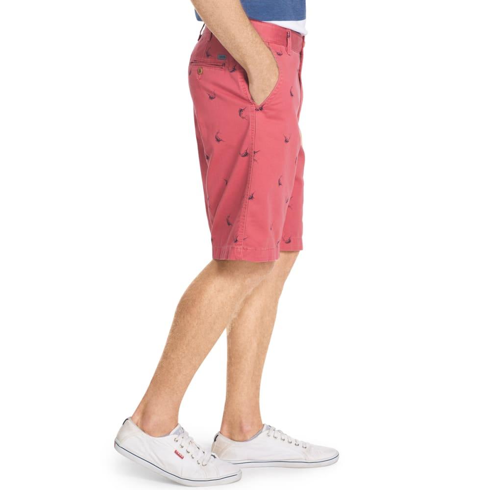 IZOD Men's Swordfish Printed Twill Shorts - 648-SALTWATER RED