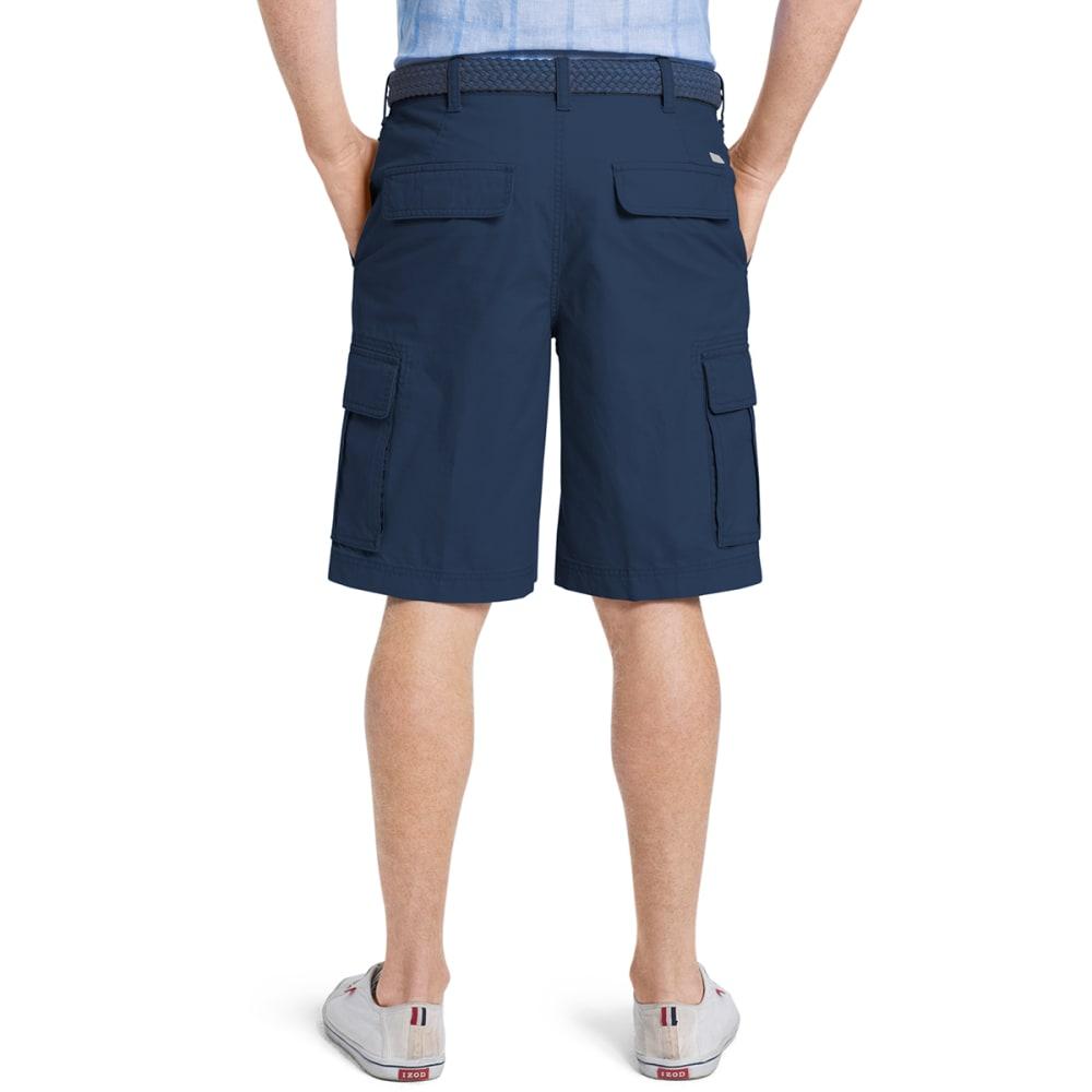 IZOD Men's Flat Front Cargo Shorts - 412-CADET NAVY