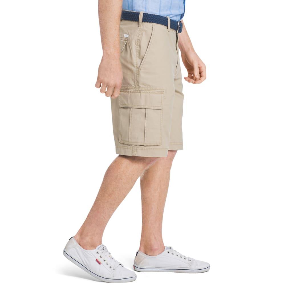 IZOD Men's Flat Front Cargo Shorts - 261-CEDARWOOD KHAKI