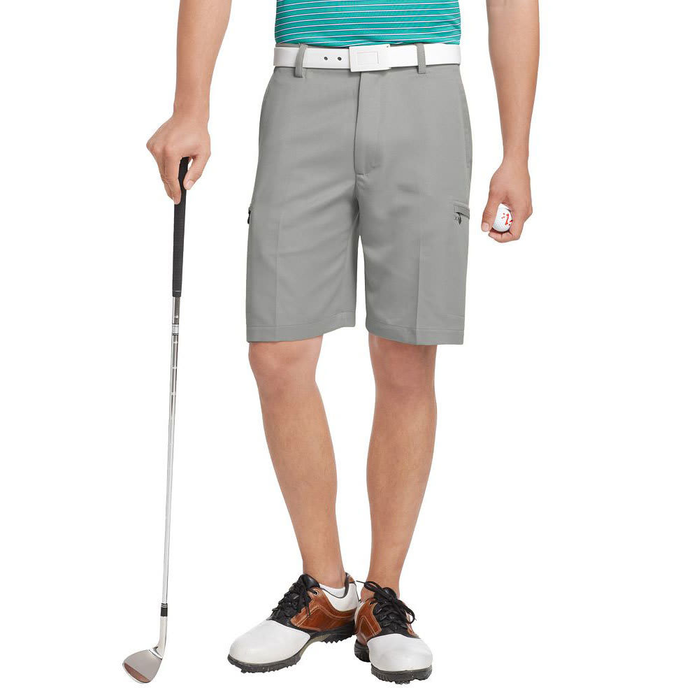 IZOD Men's XFG Basic Golf Cargo Shorts - SLVR NICKEL-022