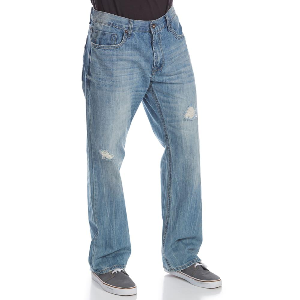 AXEL Men's Buckland Relaxed Straight Leg Jeans - LIGHT BLUE