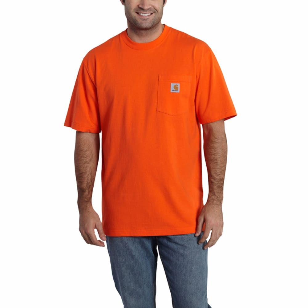Carhartt Men's Workwear Graphic Faded Back Camo Pocket Tee - Orange, L
