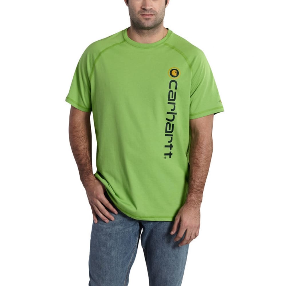 CARHARTT Men's Force Cotton Delmont Graphic Short-Sleeve Tee - FOLIAGE GREEN