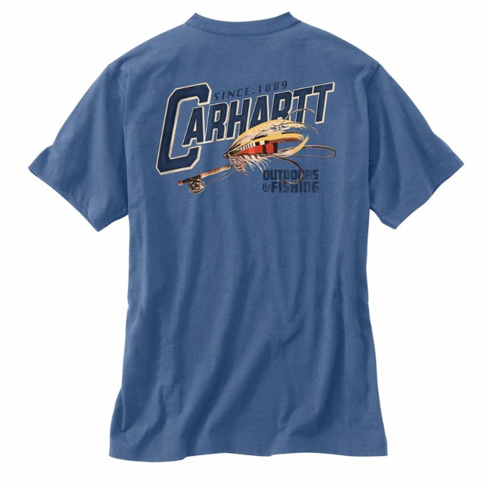 CARHARTT Men's Maddock Fly Fishing Tee - NAVY/CREAM/GUM