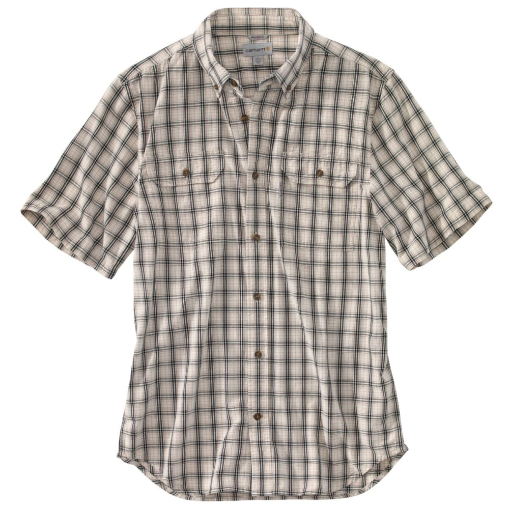 Carhartt Men's Fort Plaid Short-Sleeve Shirt - White, M