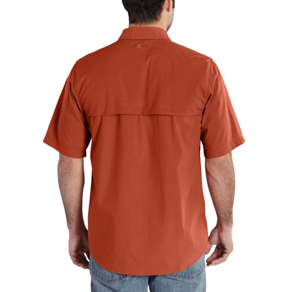 CARHARTT Men's Force Mandan Short-Sleeve Shirt - 803 SPICE