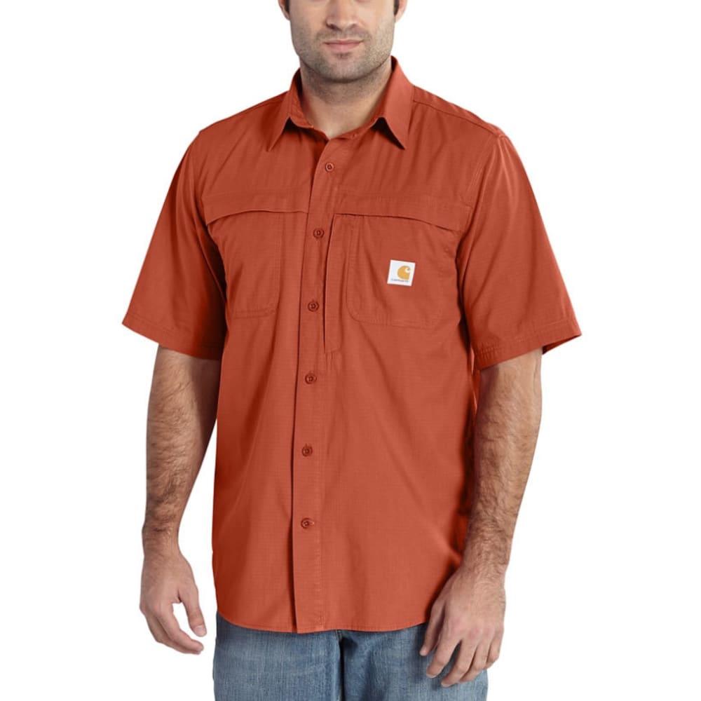 CARHARTT Men's Force Mandan Short-Sleeve Shirt - 803 SPICE
