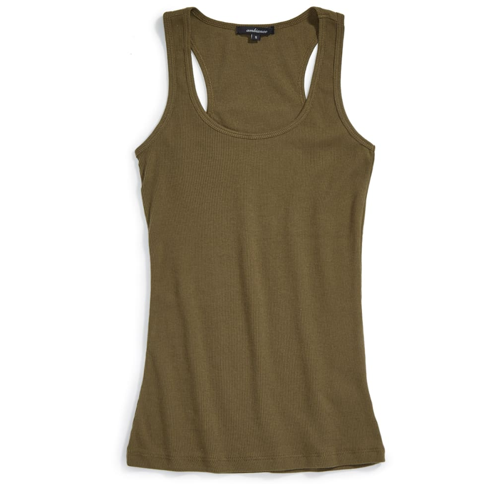 AMBIANCE Juniors' Racerback Tank - OLIVE