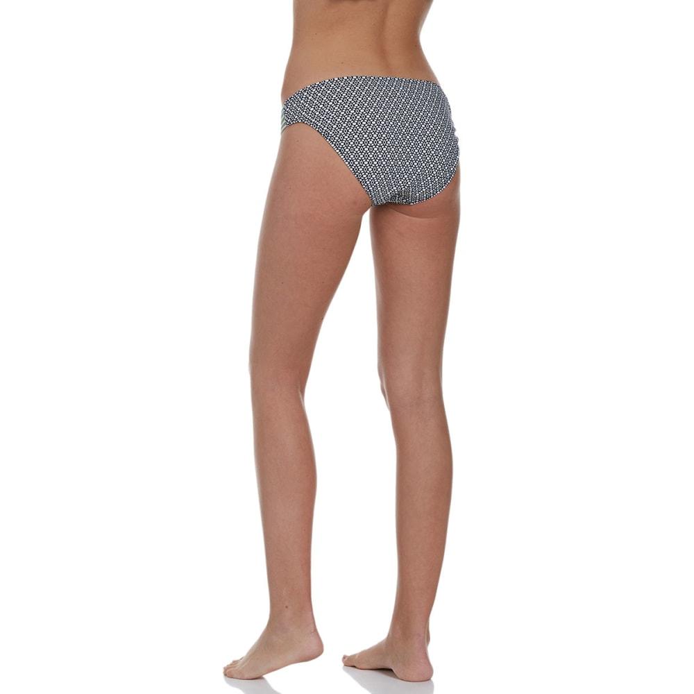 HOT WATER Juniors' Antigua Strappy Bikini Bottoms - BLACK MULTI