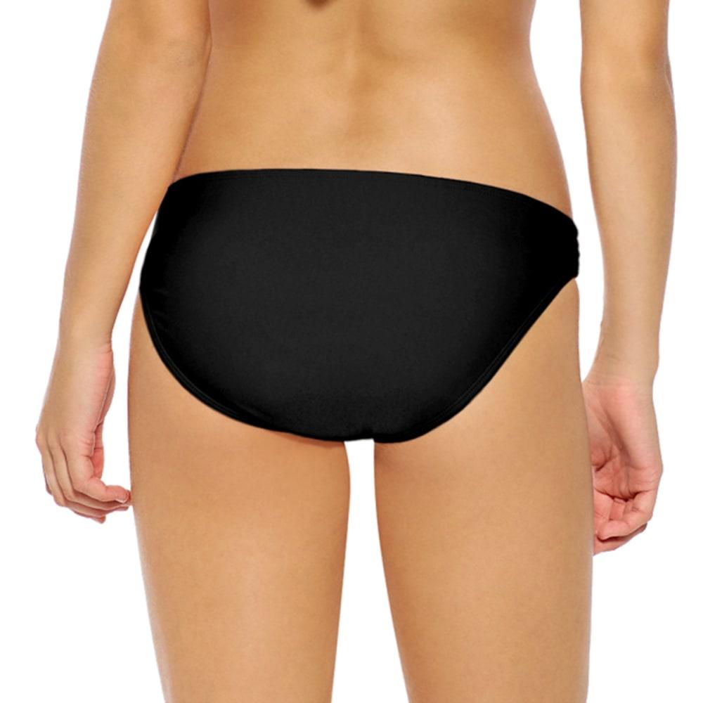 HOT WATER Juniors' Strappy Bikini Bottom - BLACK