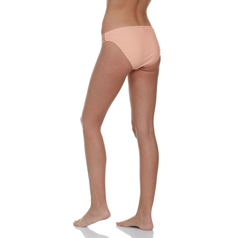 HOT WATER Juniors' Strappy Bikini Bottom - PEACH