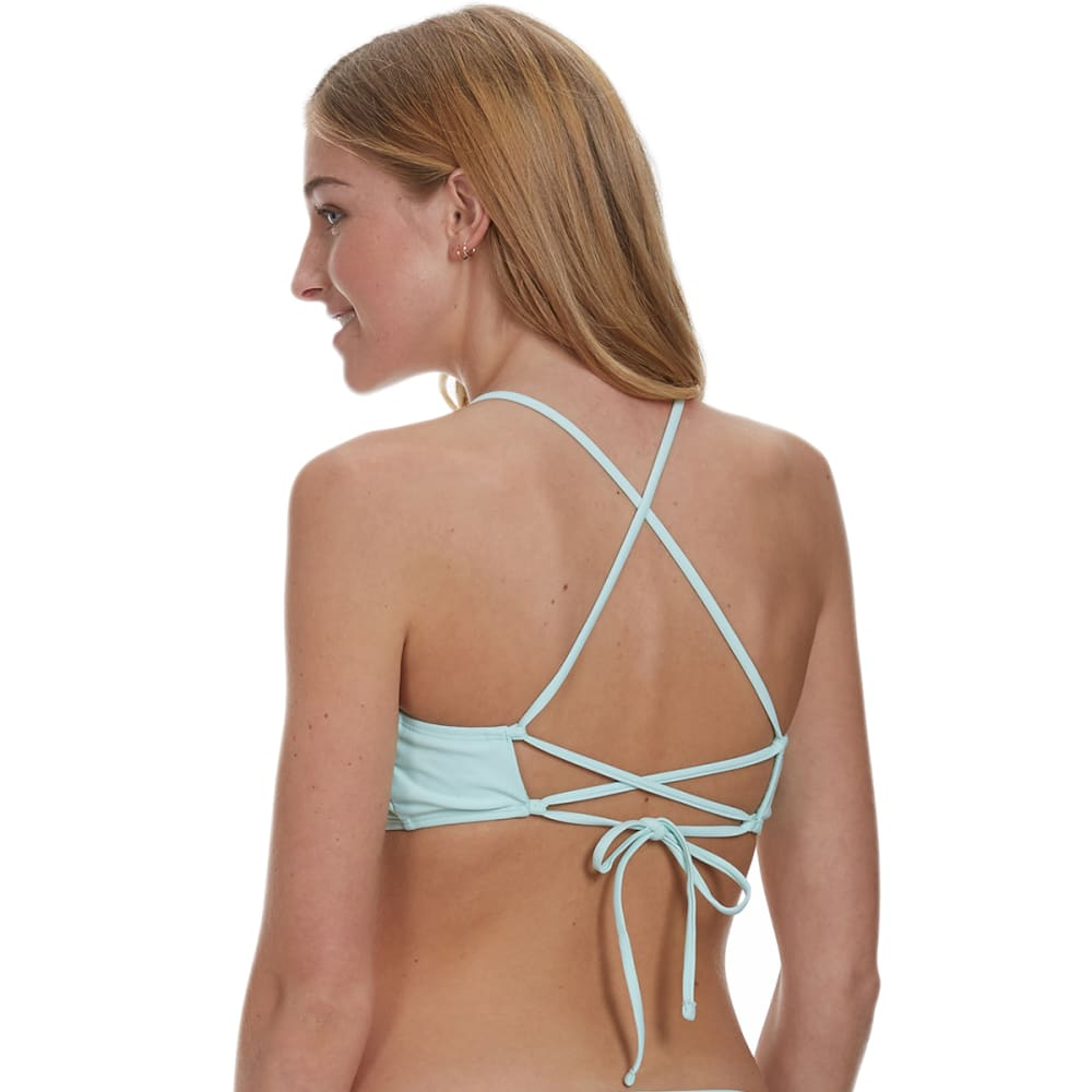 HOT WATER Juniors' X-Back Bralette Bikini Top - MAUI