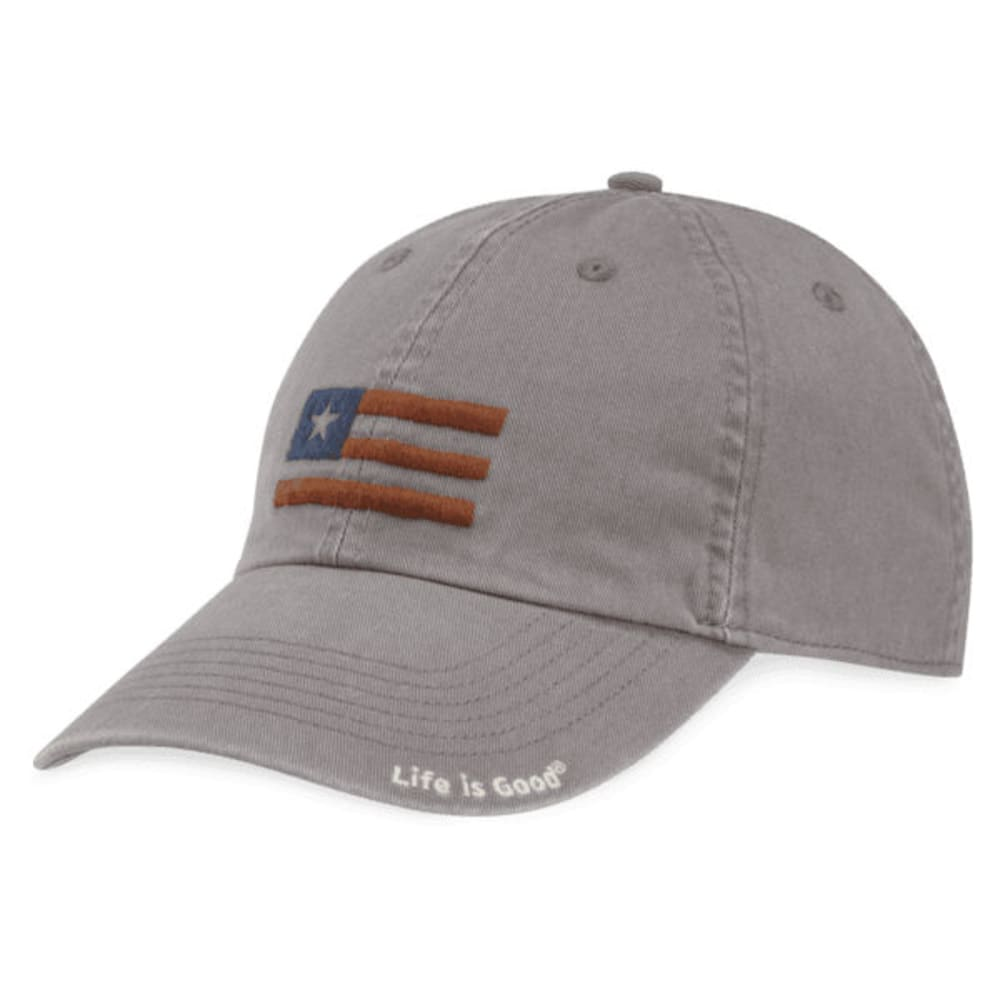 LIFE IS GOOD Women's USA Flag Chill Cap - SLATE GREY