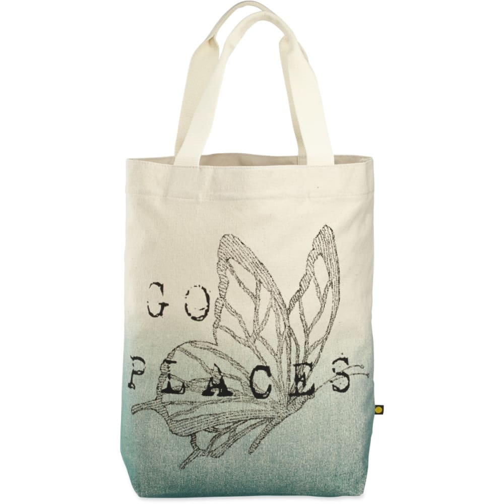 LIFE IS GOOD Engraved Butterfly Go Places Tote - CREAM