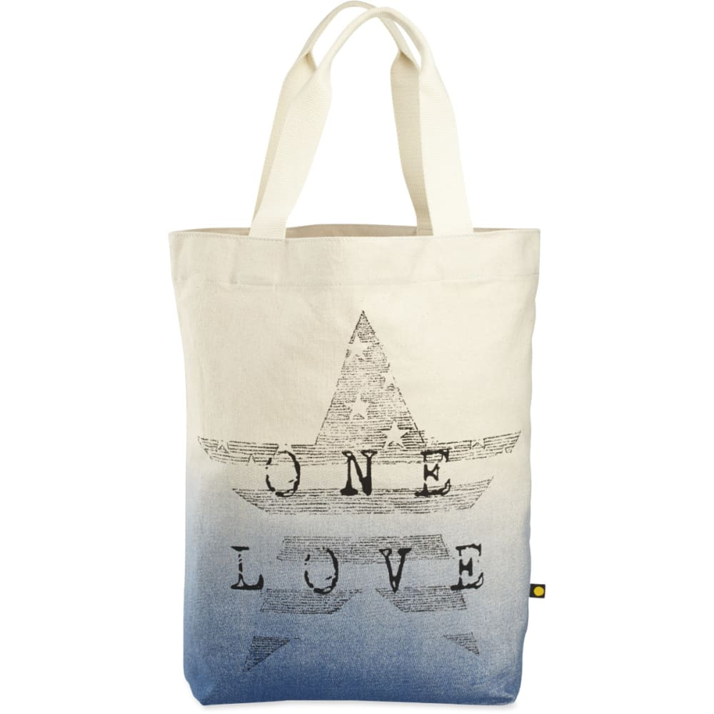 LIFE IS GOOD Engraved Star One Love Tote - CREAM
