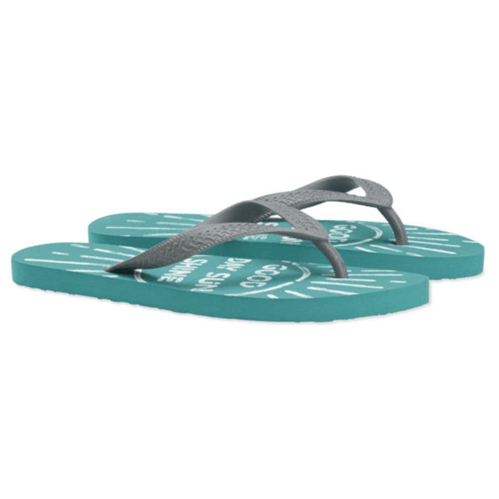 LIFE IS GOOD Women's Flip Flops - COCKATOO HTR 45154