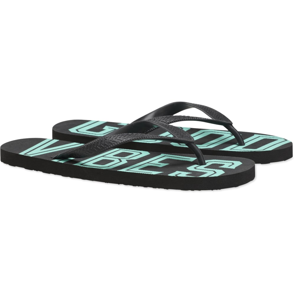 LIFE IS GOOD Men's Flip Flops - NIGHT BLACK