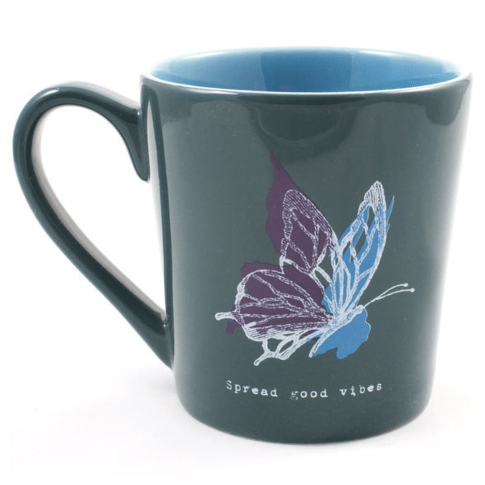 LIFE IS GOOD Everyday Butterfly Mug - TEAL