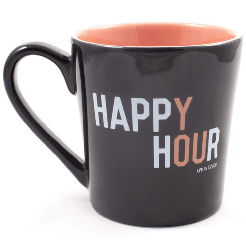 LIFE IS GOOD Everyday Happy Hour Mug - NIGHT BLACK