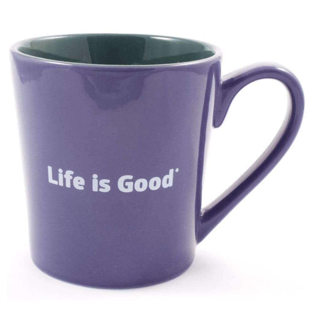 LIFE IS GOOD Everyday Heart Mug - BLUE/PURPLE