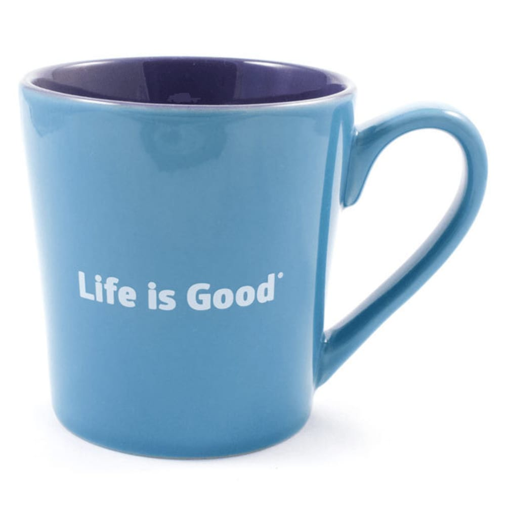 LIFE IS GOOD Everyday Love Mug - BRIGHT BLUE
