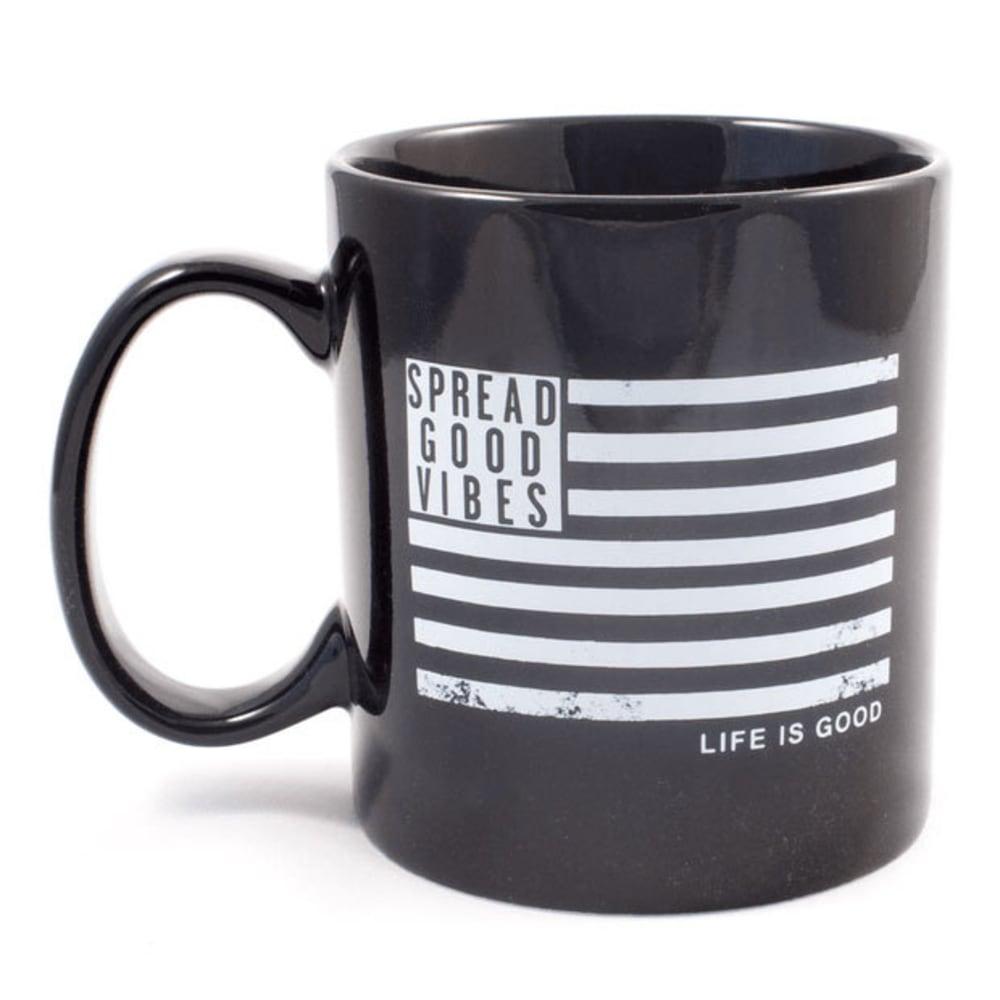 LIFE IS GOOD Jake's Flag Mug - NIGHT BLACK