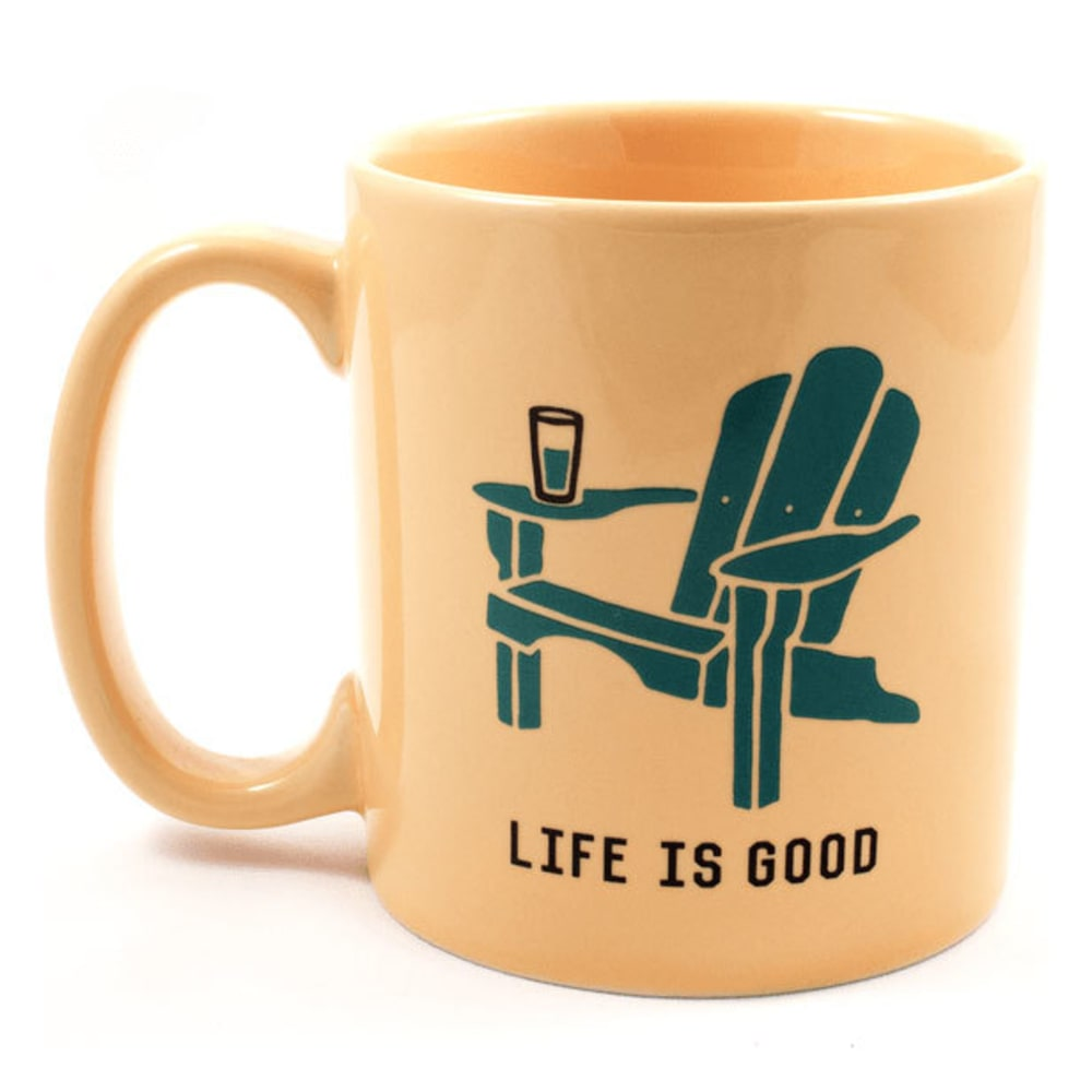 LIFE IS GOOD Jake's Adirondack Mug - SUNNY YELLOW