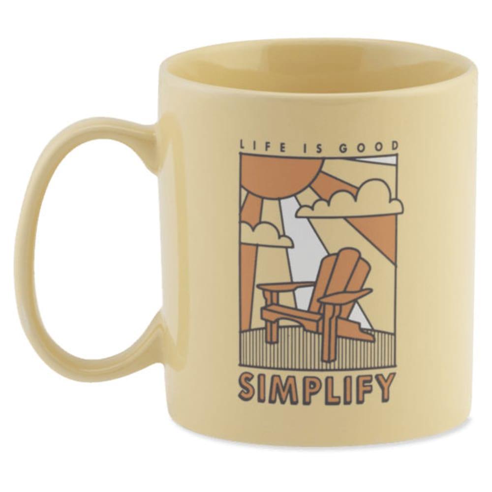 LIFE IS GOOD Simplify Adirondack Jake's Mug - SOFT YELLOW