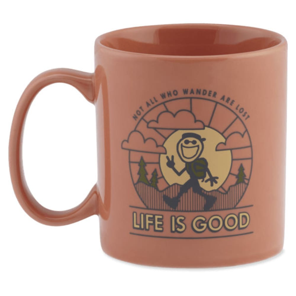 LIFE IS GOOD Wander Jake's Mug - PEACH