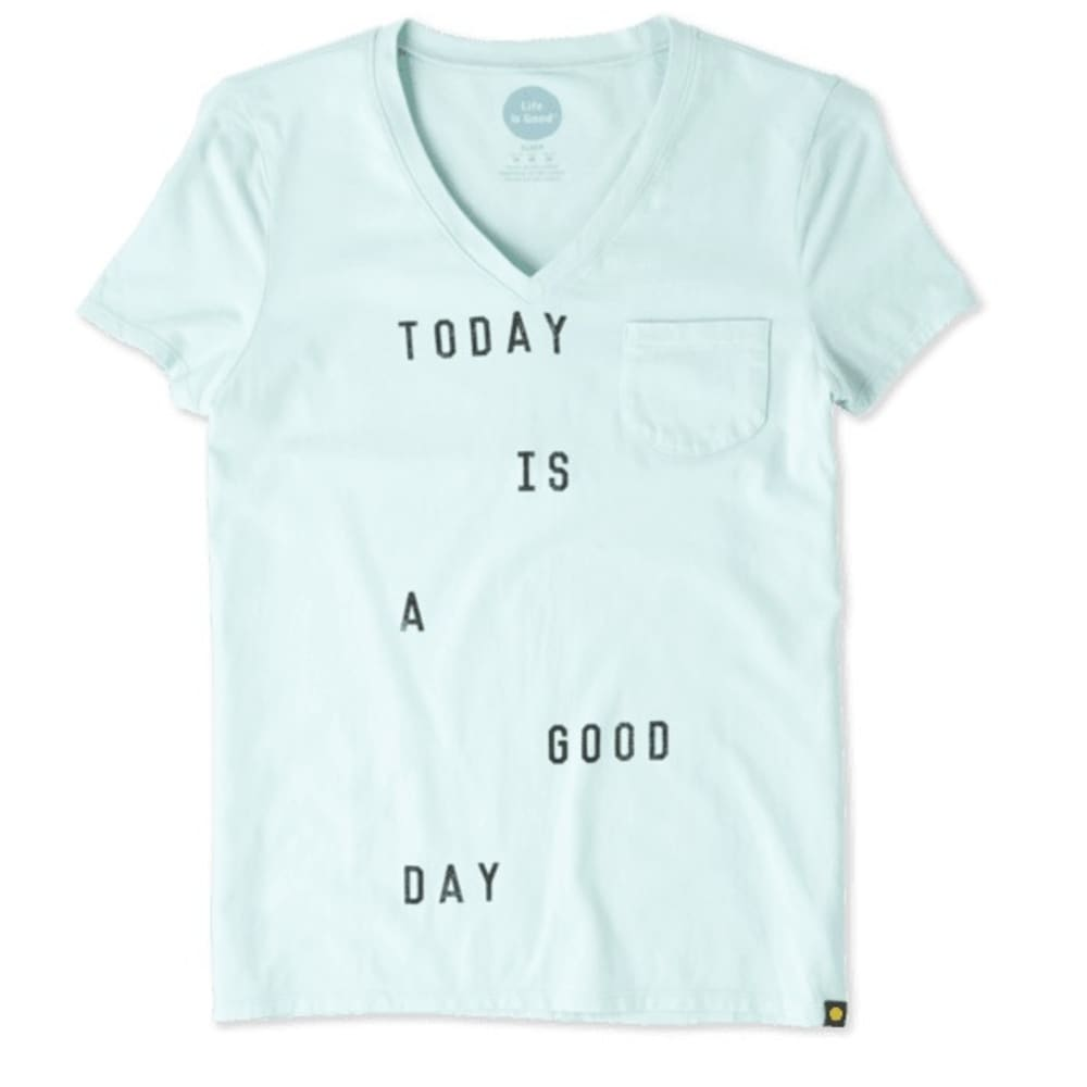 LIFE IS GOOD Women's Sleep Vee Today Is A Good Day Tee - MINT