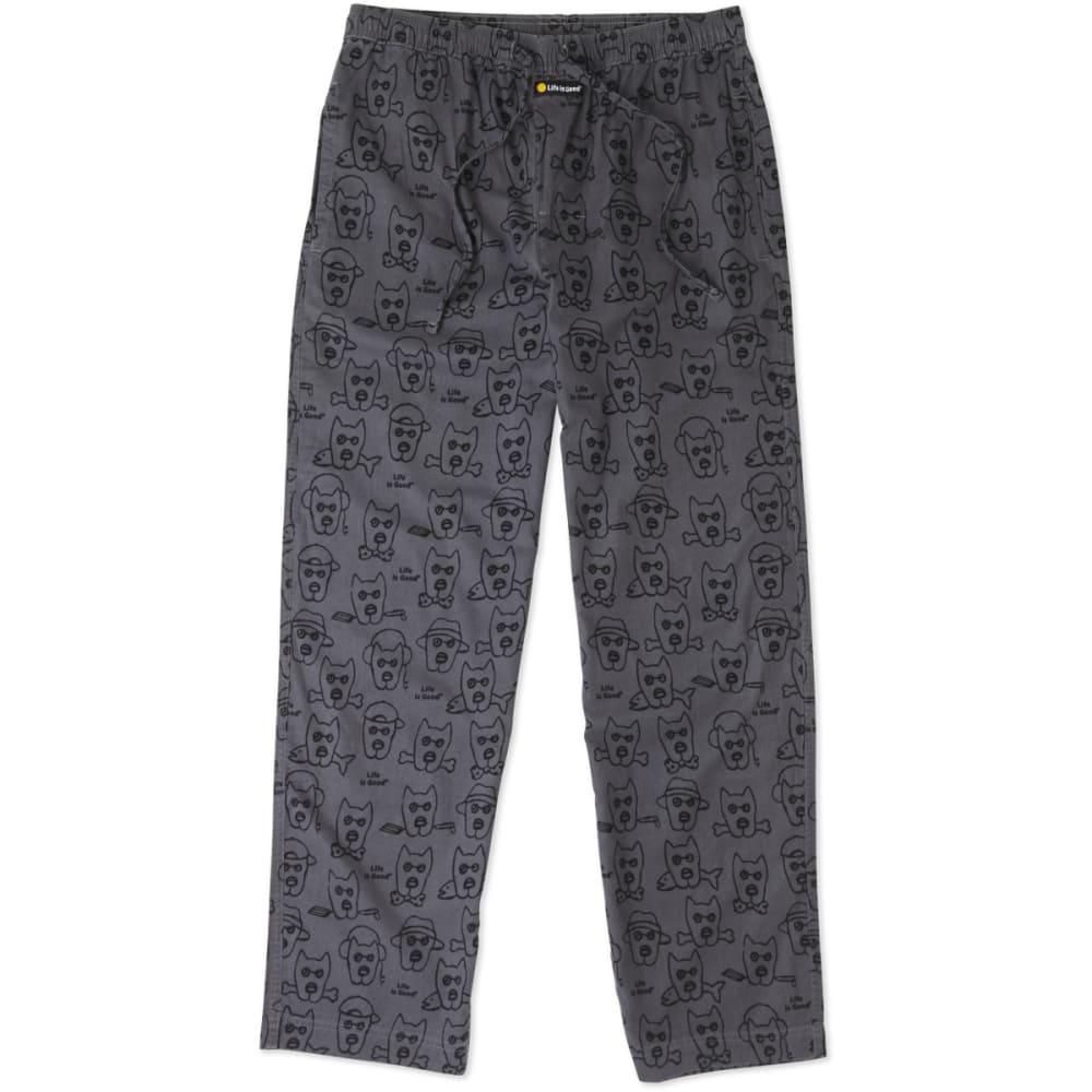 LIFE IS GOOD Men's Classic Sleep Pants - SLATE GREY