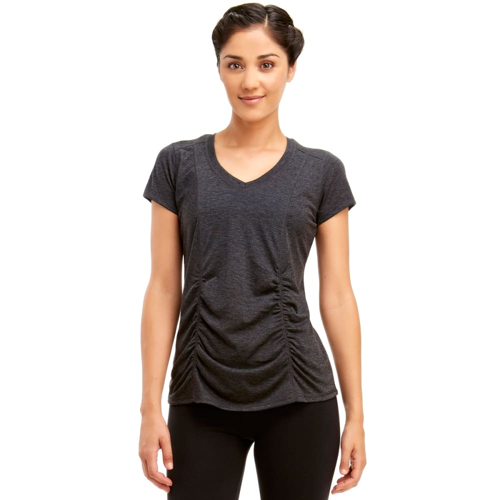 MARIKA Women's Slimming Tee - BLACK HEATHER -513