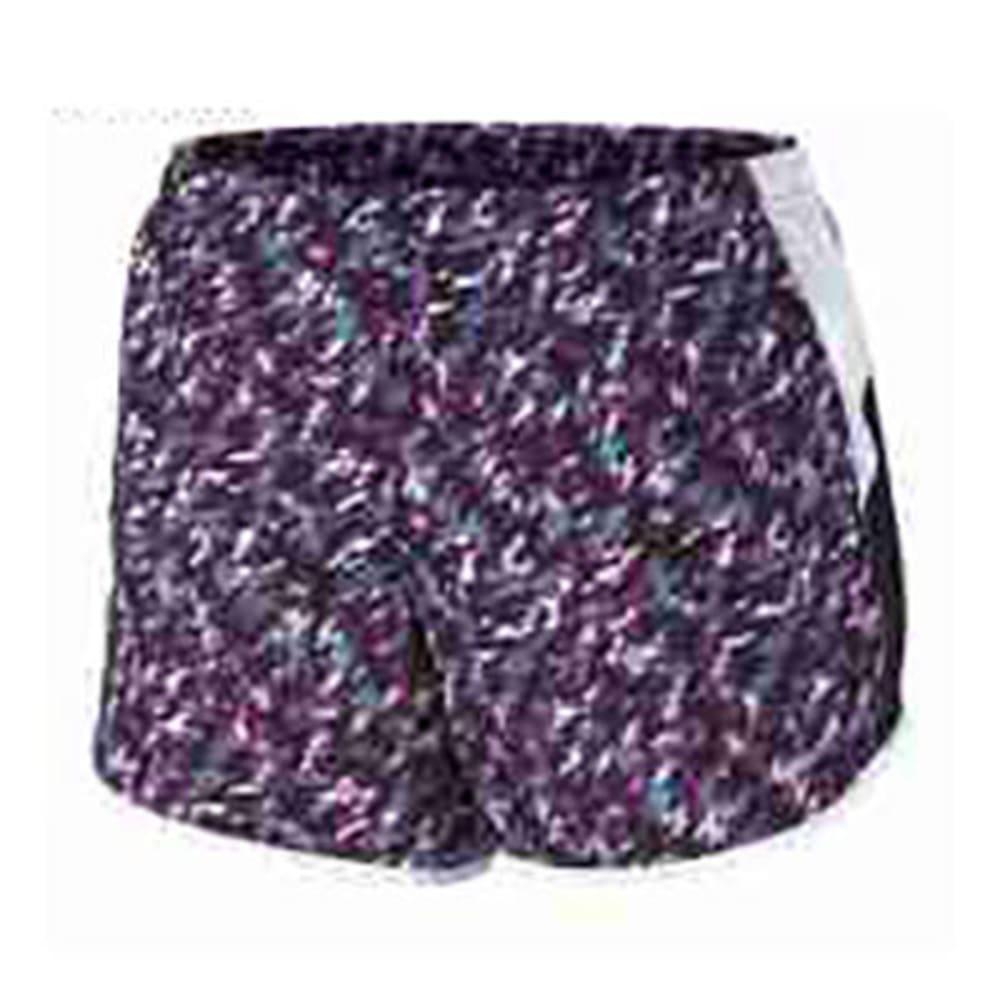 NIKE Women's 3 in. Tempo Printed 10K Running Shorts - PURPLE