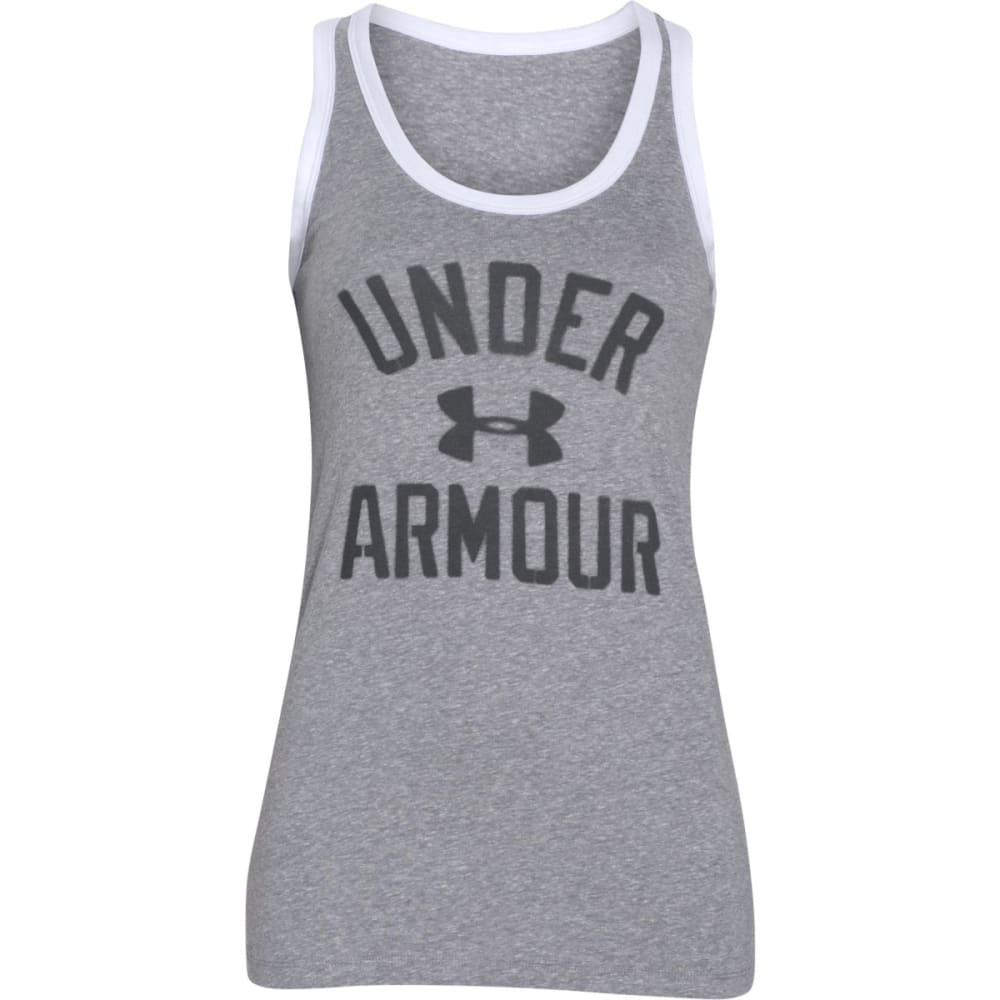 UNDER ARMOUR Women's Favorite Legacy Tank Top - TRUE GRY HTHR-025
