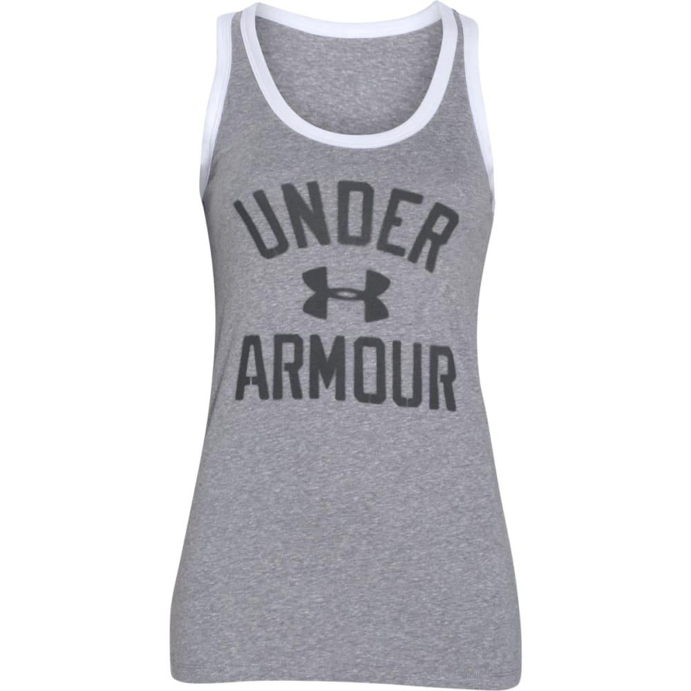 UNDER ARMOUR Women's Favorite Legacy Tank Top - TRUE GRY HTHR-025