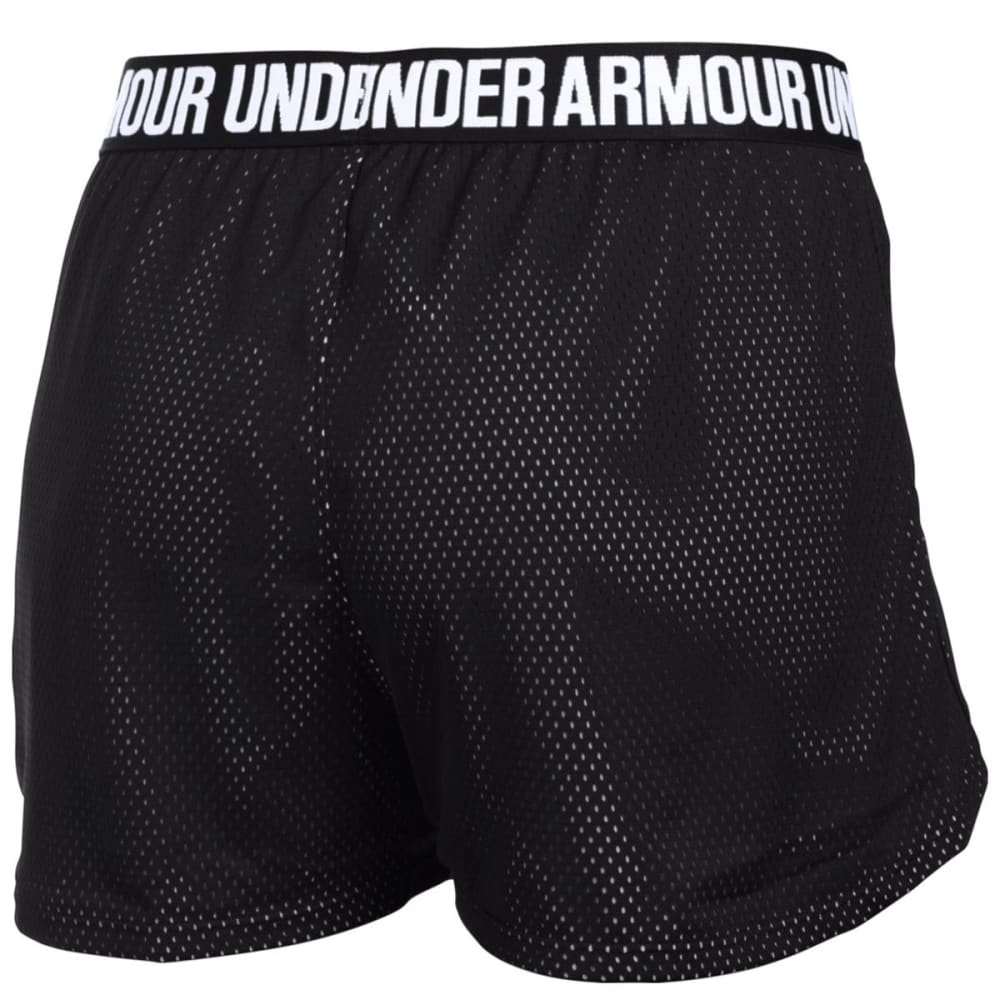 UNDER ARMOUR Women's Play Up Mesh Shorts - BLACK