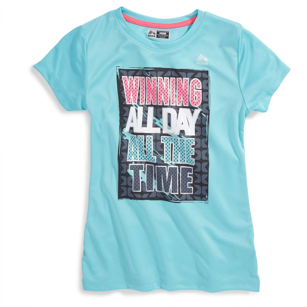 "RBX Girl's ""Winning All Day"" Tee Shirt - SEAFOAM"