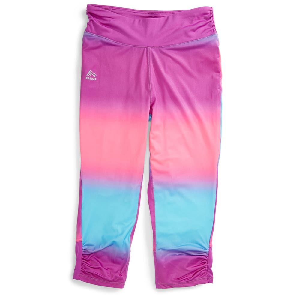 RBX Girl's Ombre Capris - NEON PURPLE