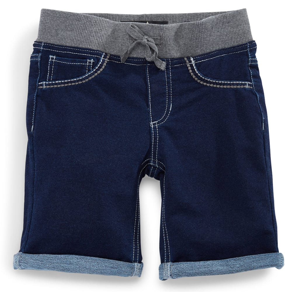 VANILLA STAR Girls' Knit Denim Bermuda Shorts - DARK CASTLE