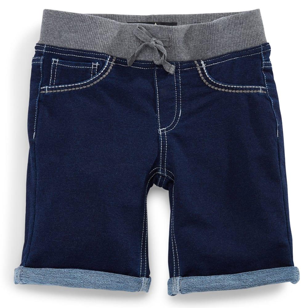 VANILLA STAR Girls' Knit Denim Bermuda Shorts - DARK CASTLE