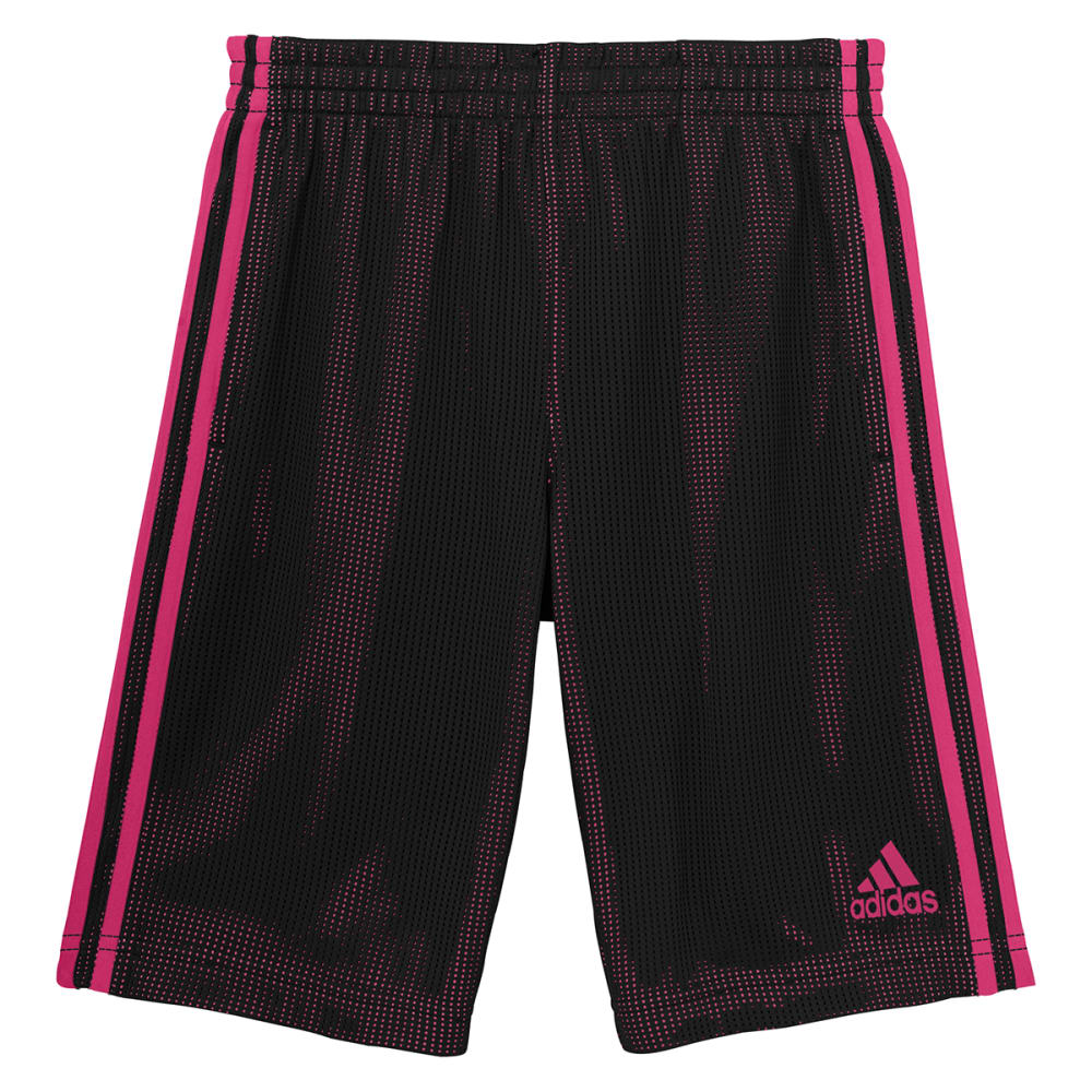 ADIDAS Girls' Triple Up Shorts - BLACK/SHOCK PINK-ARV