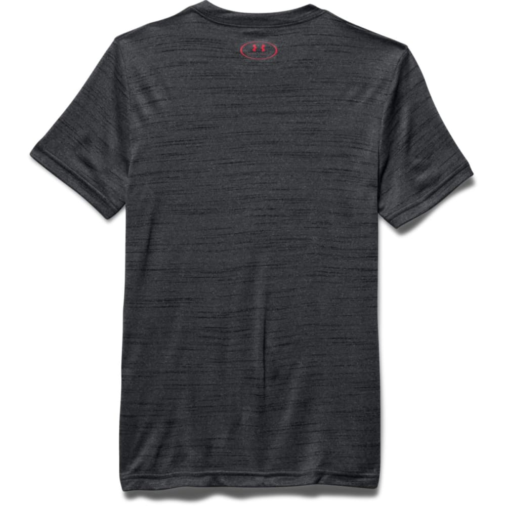 UNDER ARMOUR Boys' Impact Logo Tee - BLACK/GRY-001