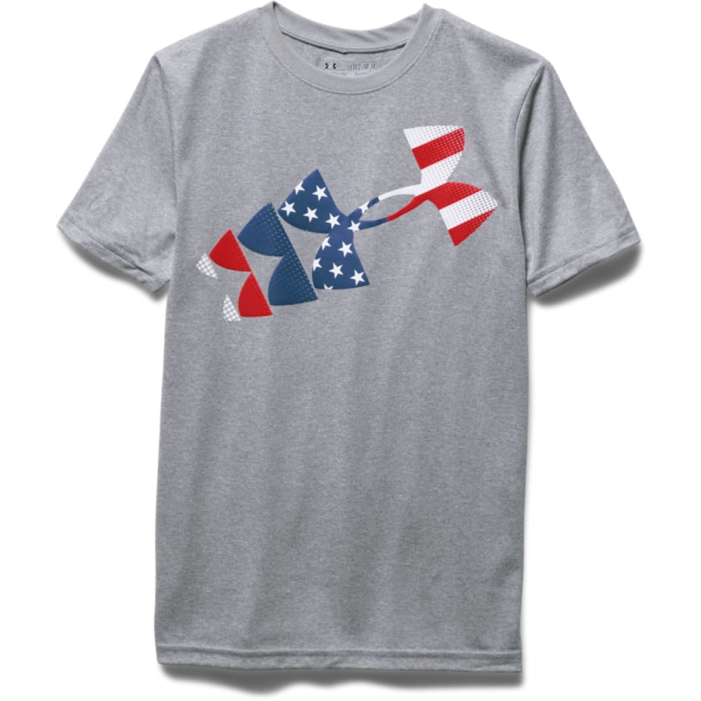 UNDER ARMOUR Boys' USA Tee - TRUE GREY HTHR-025