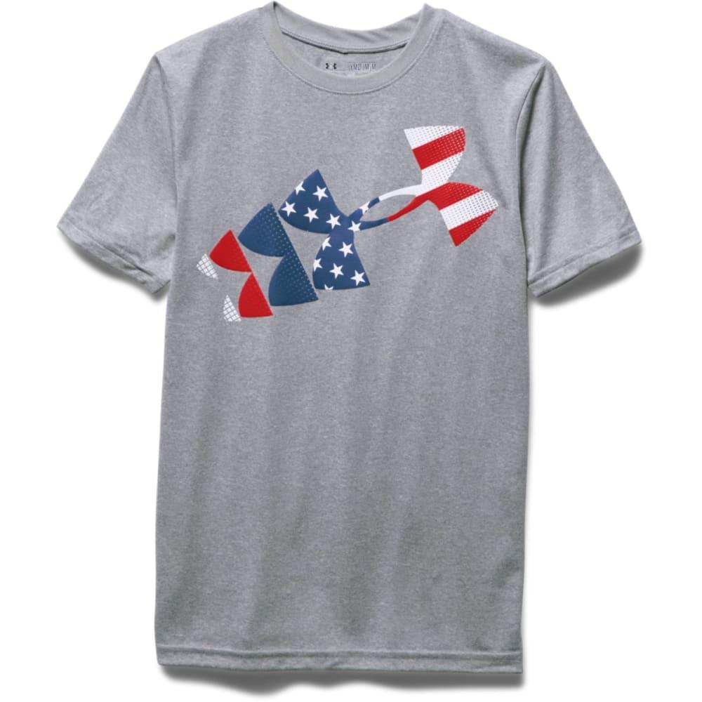 UNDER ARMOUR Boys' USA Tee - TRUE GREY HTHR-025
