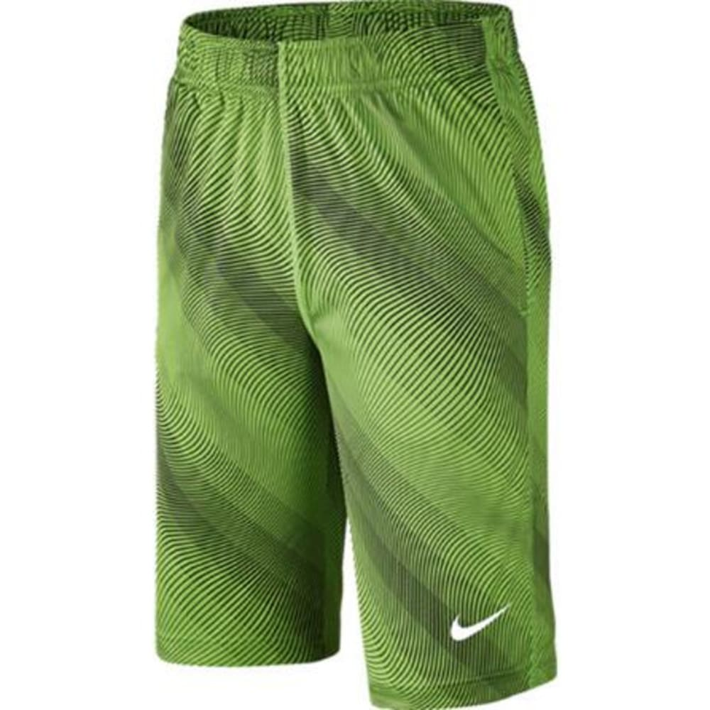NIKE Big Boys' 10 in. Fly AOP3 Shorts - ACTION GRN/WHT -313