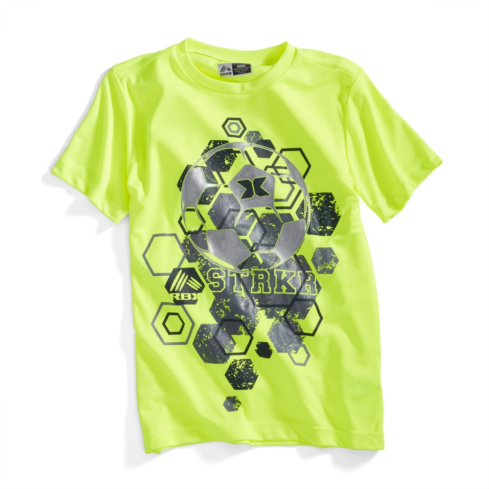 RBX Boys' Soccer Ball Graphic Short-Sleeve Tee - NEON YELLOW