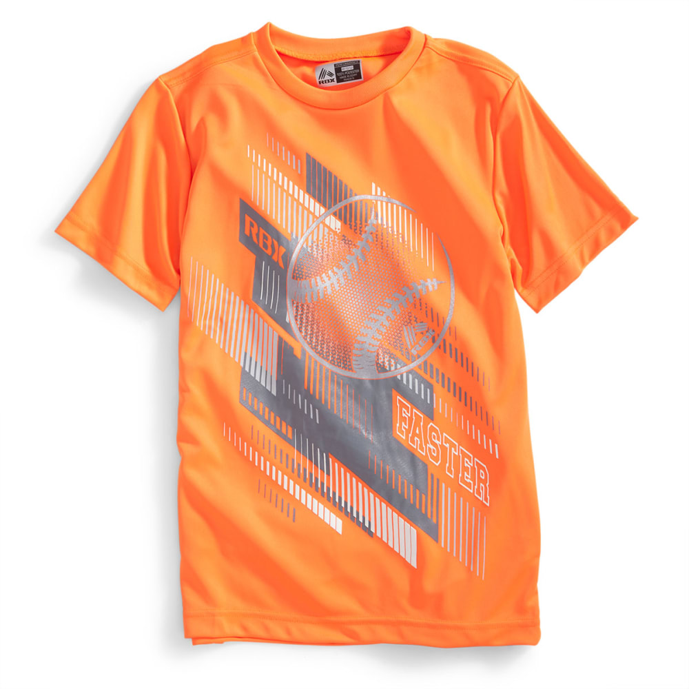 RBX Boys' Baseball Graphic Short-Sleeve Tee - NEON ORANGE